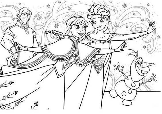 50 Desenhos Do Frozen Para Colorir E Imprimir