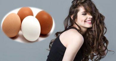 Máscara de ovo para os cabelos