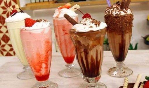 milkshakes para o verão