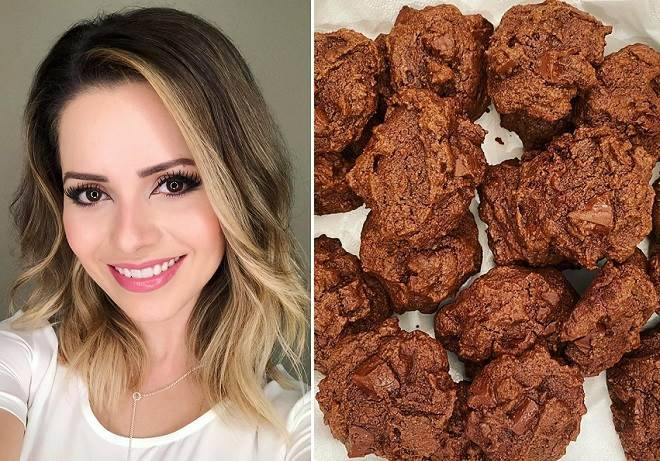Aprenda a receita dos cookies de chocolate saudáveis da Sandy