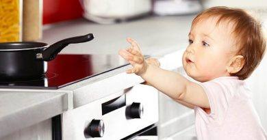 cozinha mais segura para as crianças