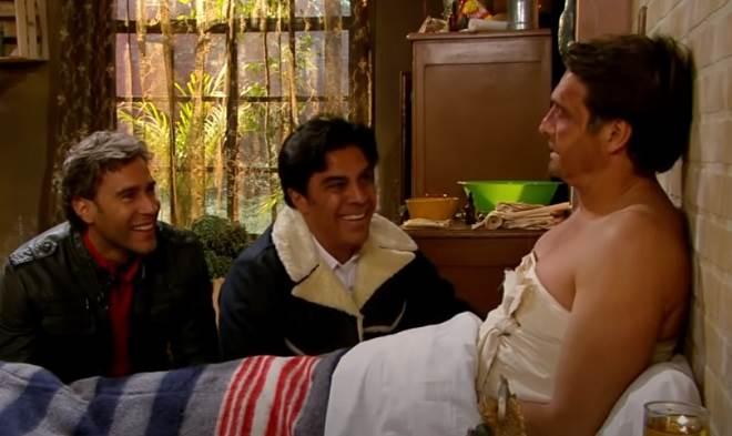 Quando Me Apaixono: Carlos e Lázaro contam para Jerônimo que Renata está grávida