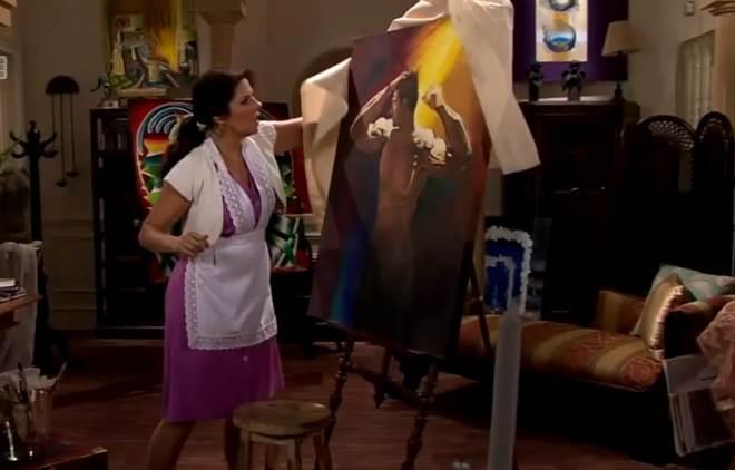 Amores Verdadeiros: Cristina vê o quadro que Vitória pintou de Aguiar