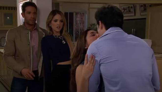 Amores Verdadeiros: Gusmão e Nikki flagram Liliana e Roy se beijando